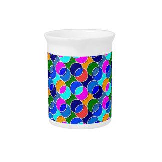 70s circunda rosa azul jarras de beber