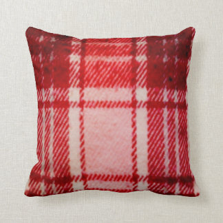 70's Coral Red Throw Pillow