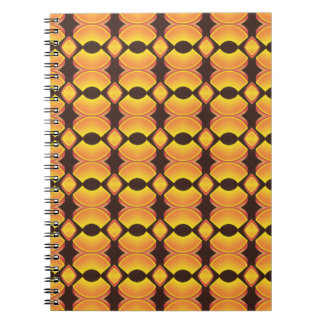 70s Design 01 Seventies Brown Orange Warm Glow Notebook