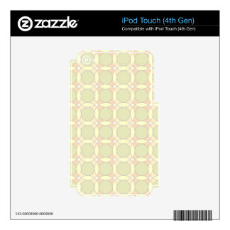 70s design circles decals for iPod touch 4G