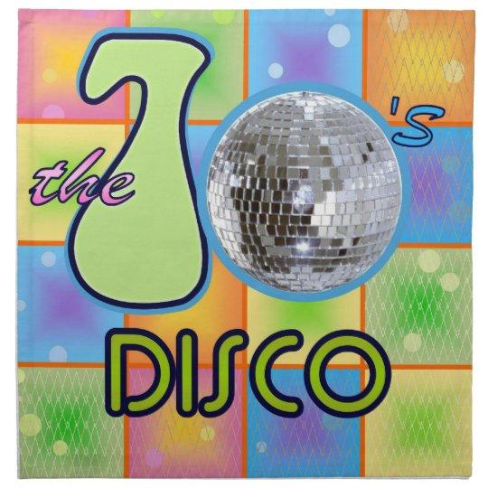 70s Disco Cloth Napkin