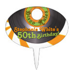 70s Disco Groovy 45 Record 50th Birthday Cake Toppers