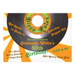 70s Disco Groovy 45 Record 50th Birthday Party Personalized Invitation