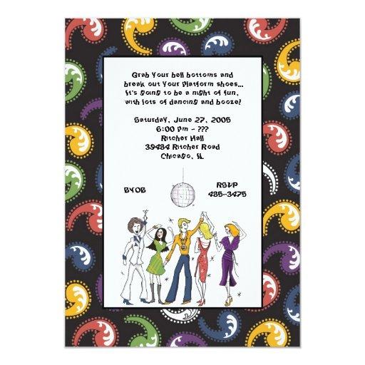 70s disco invitations zazzle for 70 s wedding invitations