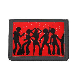 70's Disco Red Tri-fold Wallets