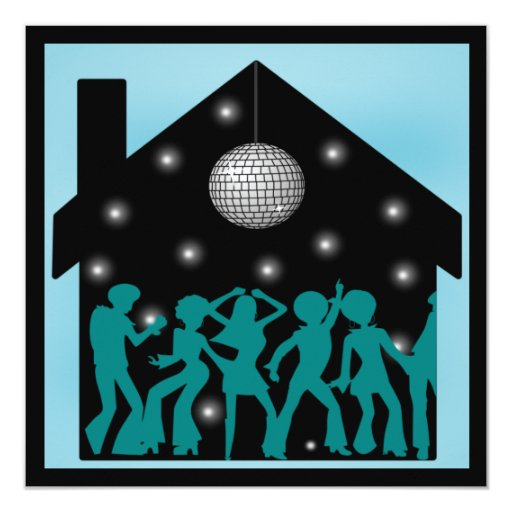 70s Disco Theme House Party Card