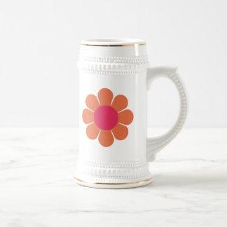 70's Flower Power Coffee Mugs