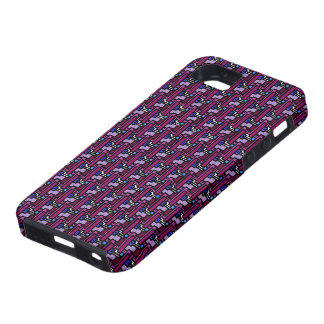 70's funky purple design for iPhone 5 iPhone 5 Covers