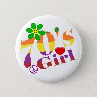 70's Girl Retro Button