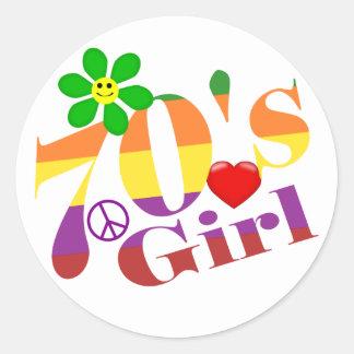 70's Girl Retro Stickers