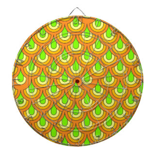70s, green orange dartboard