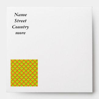 70s green orange pattern envelopes