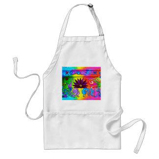 70's groovy hippie apron