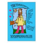 70's HIPPIE GIRL  TRUTHSEEKER CARD
