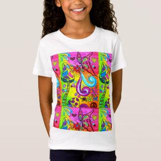 70's hippie-style flower power t-shirt