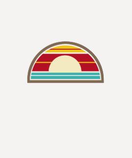 70s Inspired Sunset T Shirt