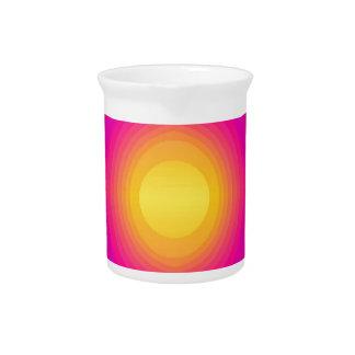 70s llamativo, rosado jarrón