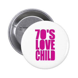 70's Love Child 2 Inch Round Button