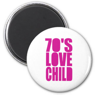 70's Love Child 2 Inch Round Magnet