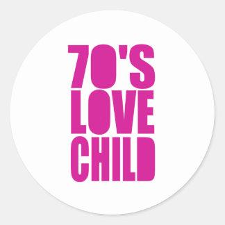 70's Love Child Classic Round Sticker