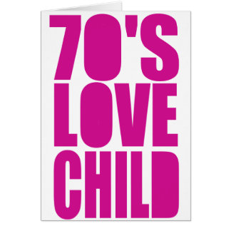 70's Love Child Greeting Card