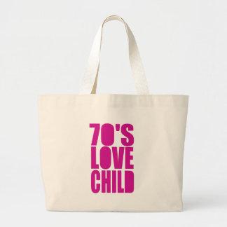 70's Love Child Jumbo Tote Bag