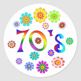 70s Love Classic Round Sticker