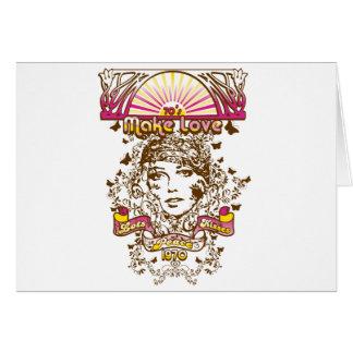 70s make love lots peaces kisses 1970 card