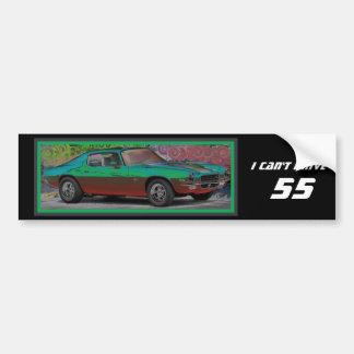 70s Muscle Car Car Bumper Sticker
