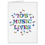 70s Music Lives Card