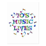 70s Music Lives Post Card