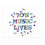 70s Music Lives Postcard