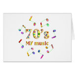 70s Music Lover Greeting Card
