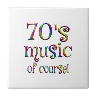 70s Music of Course Ceramic Tile