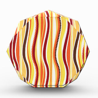 70s Orange Beaded Stripes Award
