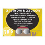 70's party 5x7 paper invitation card