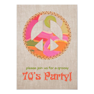 "70's Party Invitation 5"" X 7"" Invitation Card"