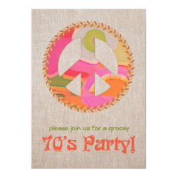 70's Party Invitation