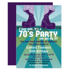 70s Party Invitation 1970s Disco Birthday