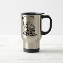 pin-up, skull, rifle, vintage, 70's, crazy, weapon, cow skull, funny, death's-head, historical, Mug with custom graphic design