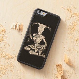 70's pin-up skull carved® maple iPhone 6 bumper case