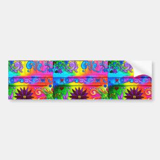 70's psychedelic design bumper sticker bumper sticker