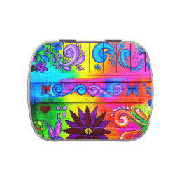 70's psychedelic hippie candy tin