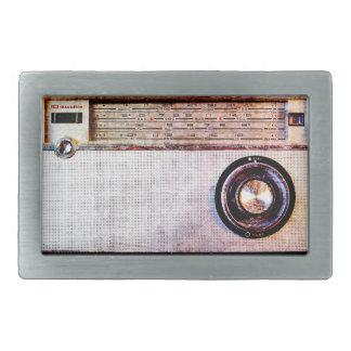 70's radio belt buckle