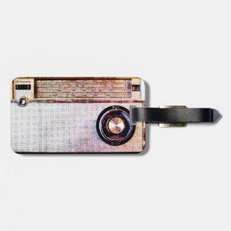 70's radio travel bag tag