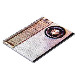 70's radio spiral notebook