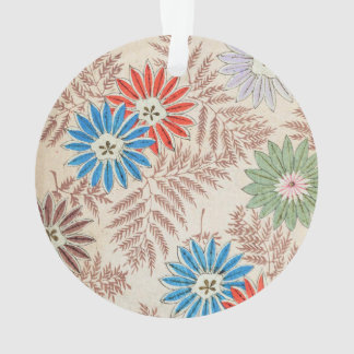 70s retro floral pattern ornament