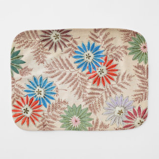 70s retro floral pattern baby burp cloth