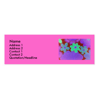 70's Retro Flower's Profile Card Business Cards