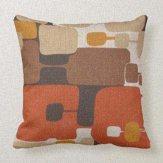 70s Retro Geometric Throw Pillow